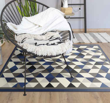 Very original and unique , the nordic style geo vinyl rug brings a graphic touch to your interior.  Bring some originality to your house.