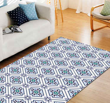 Delicate abstract flower tile carpet to decorate your home or office floor space. Give your space a classic touch with our anti-slip floor carpet.