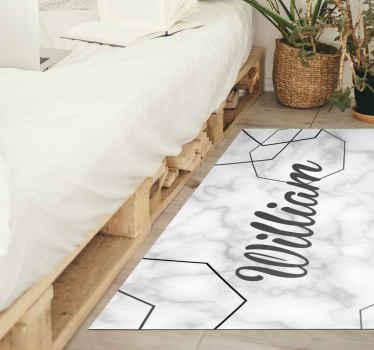 Cooler personalisierter Vinyl Teppich aus marmor für Ihr Zuhause, draußen oder drinnen. Leicht zu waschen und sehr langlebig. Anti allergisch.