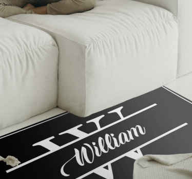 Bring some awesome in your bedroom with this awesome personalized vinyl runner rug for the bedroom. Don't wait any longer and order now!