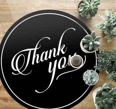 Esta alfombra vinílica texto de agradecimiento se puede colocar en la entrada de tu casa para agradecer la visita. Elige  medidas ¡Fácil de mantener!