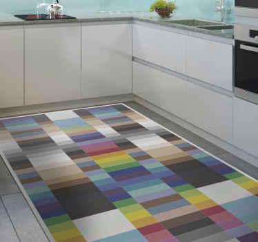 Carrelage de sol en mosaïque multicolore à petits carrés pour votre cuisine, votre salon, votre chambre, votre couloir et d'autres lieux d'intérêt.