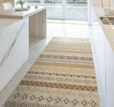 Maravillosa alfombra vinilo mosaico de estilo étnico y minimalista para decorar cualquier estancia de forma original ¡Envío exprés!