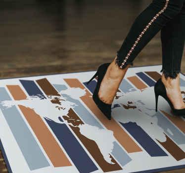 Dank seines trendigen designs verleiht der Vinyl Teppich dem originalen dekor des vinylteppichs einen hauch von charakter. Bestellen Sie jetzt!
