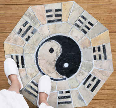 A marble ying and yang texture carpet to help you and your family reach inner peace! Discounts available when you sign up today.