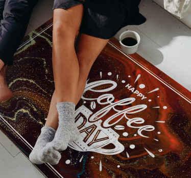 виниловый коврик с мраморной текстурой и кофейной тематикой, идеально подходящий для любого любителя кофе! Зарегистрируйтесь на нашем сайте сегодня и получите скидку 10% на первый заказ.