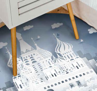 красивый коврик в виде горизонта города с изображением Москвы, который добавит характер вашему полу! выберите идеальный размер для вас и вашего дома уже сегодня.