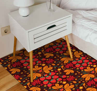 eleganter und auffälliger teppich mit natürlicher textur aus erdbeer-russischem volksmuster. Gemacht für diejenigen mit exquisitem geschmack.