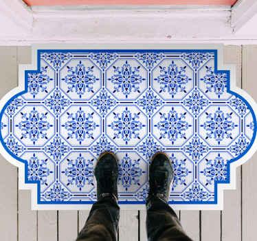寻找瓷砖风格的乙烯基地毯吗?为什么不尝试这个令人惊叹的蓝色里斯本瓷砖乙烯基地毯。它是原始的,真的很容易维护。