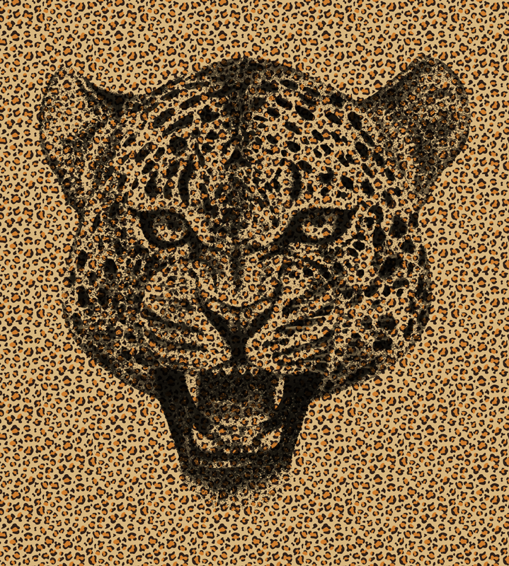 TenStickers. Leopard animal print vinyl carpet. This amazing leopard animal print vinyl rug can be the ultimate choice for improving drastically all your house decor with just a ridiculus expense!