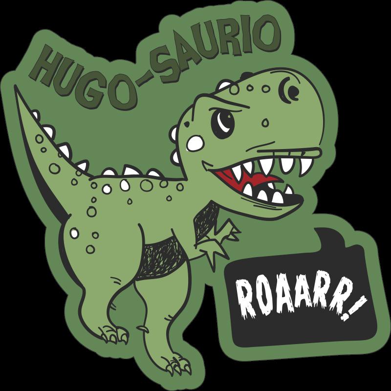 TenVinilo. Alfombra de vinilo animal dinosaurio con nombre infantil. Decora la habitación de tu hijo con esta alfombra de vinilo animal con un dinosaurio que además contendrá el nombre de tu hijo. Diseño lavable