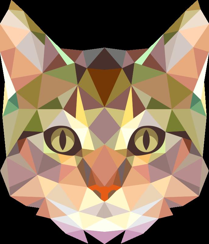 TenVinilo. Alfombra de vinilo gato geometrico. Perfecta alfombra de vinilo animal con un gato que contiene formas geométricas ideal para decorar tu casa. Diseño lavable y muy resistente.