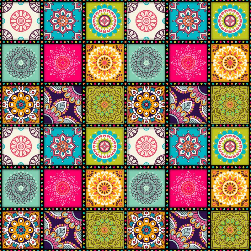 TenVinilo. Alfombras vinílicas de azulejos marroquis. Original alfombra vinílica de azulejos hidráulicos marroquíes y étnica para decorar tu casa a tu propio estilo. Muy durable y lavable