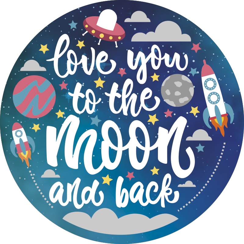 TenStickers. space kids vinyl rug. By using this  gorgeous space kids vinyl rug with quote you will be able to make your child incredibly happy without making sad your wallet!