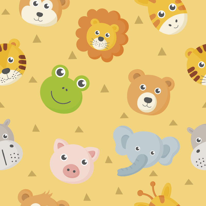 TenStickers. zoo animals babies vinyl carpet. Use this gorgeous zoo animals babies vinyl rug to change drastically the way your kids' room appears! Personalised stickers.
