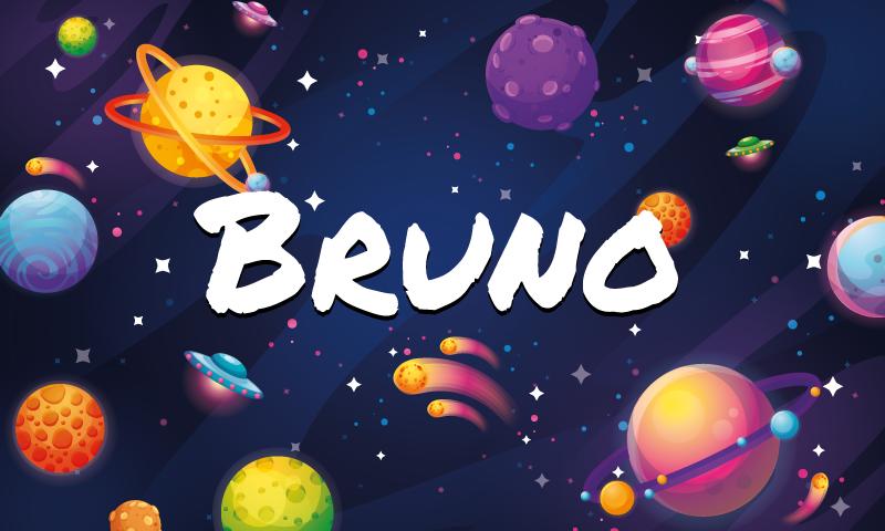 TenStickers. Covor personalizat de vinil univers și planete. Covor pentru copii de vinil cu un nume pentru a decora camera copilului dvs. Cu un design care se va simți cu totul unic, deoarece poartă numele său