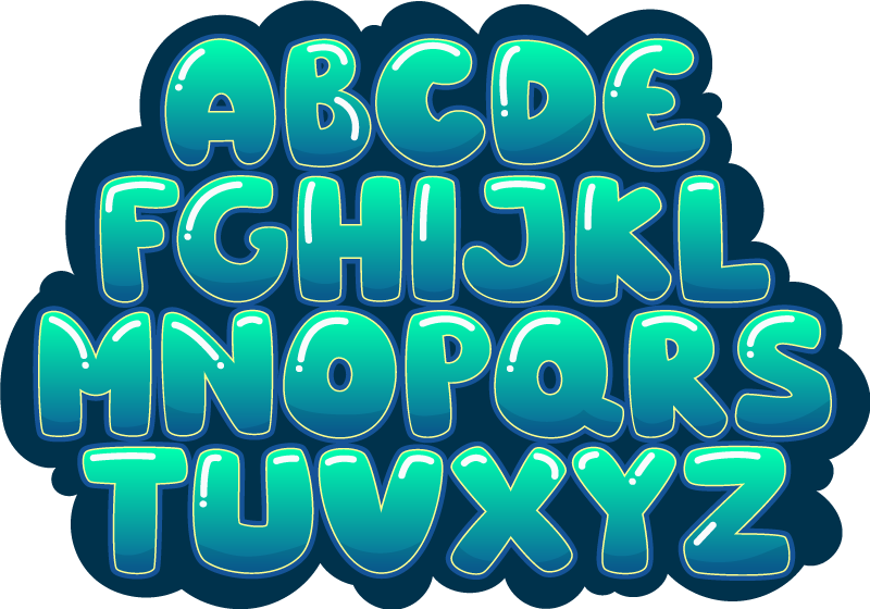 TenStickers. Alphabet bubbles vinyl rug. Decorate your kdid's room with this fabulous alphabet bubbles vinyl rug and make a great gift by just spending a ridiculus amount of money!