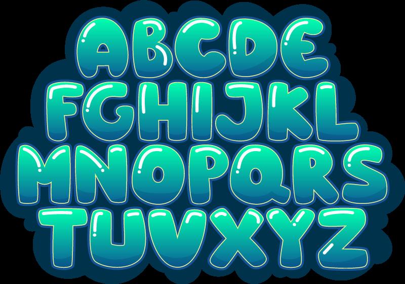 TenStickers. Tapis vinyl alphabet bulles. Décorez la chambre de votre enfant avec ce fabuleux tapis en autocollant à bulles d'alphabet et faites un excellent cadeau en dépensant simplement une somme d'argent ridicule!