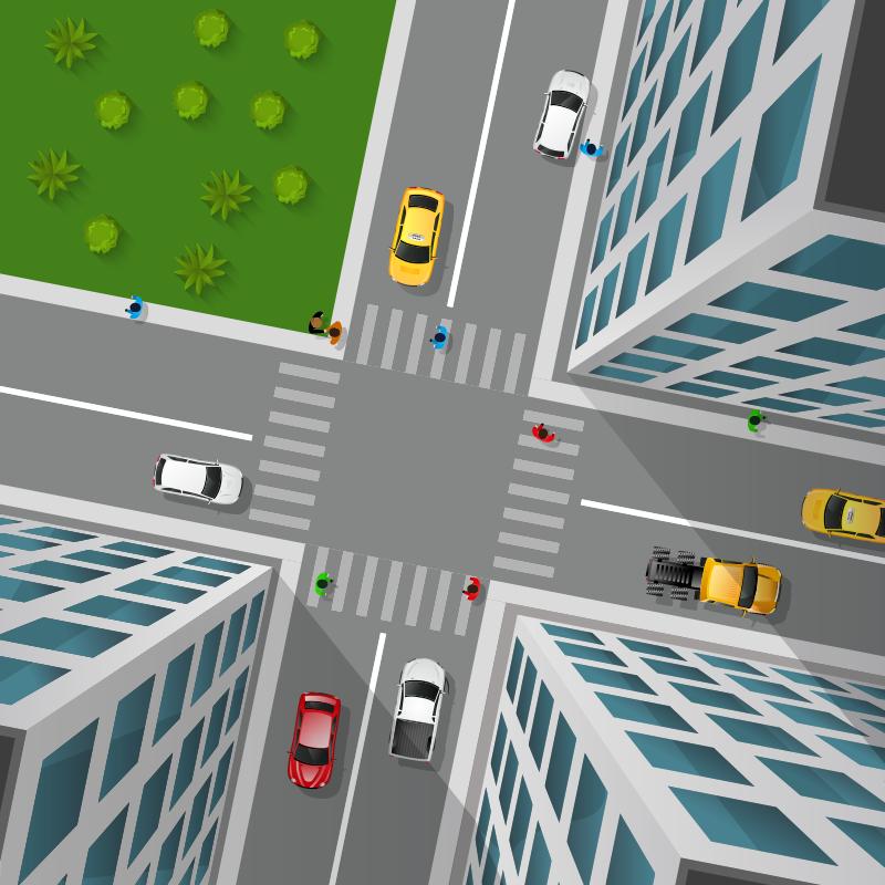 TenVinilo. Alfombra vinilica calle ciudad 3D. Impresionante alfombra vinílica de carretera infantil en la que vemos una ciudad con efectos 3D, ideal para habitación de niño o niña. Es antialérgica