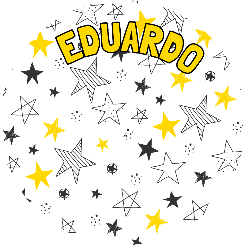 TenStickers. Round personalizable vinyl carpet. This fabulous round personalizable stars vinyl rug is exactly what you were looking for! A cheap and easy way to decorate your kid's bedroom!