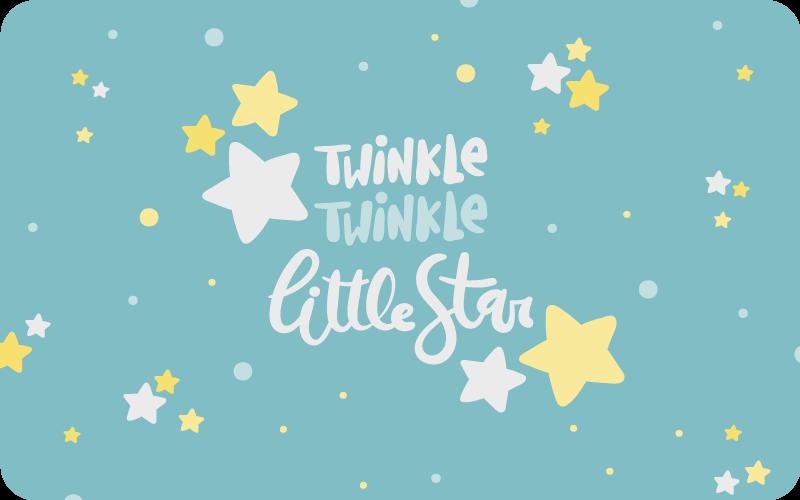 TenStickers. Covor de vinil stele twinkles. Folosește acest minunat covor de vinil de sticlă și schimbă radical modul în care ai fost obișnuit să îți decorezi spațiile copiilor tăi!