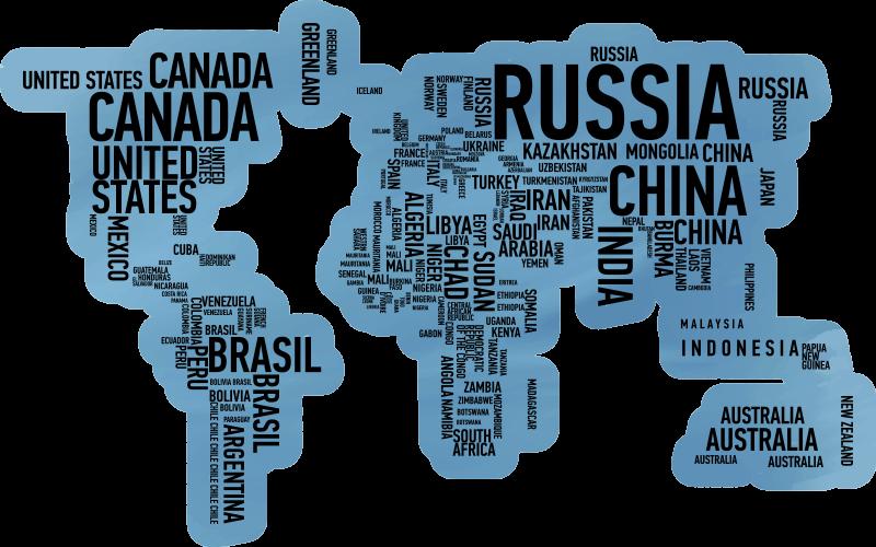 TenVinilo. Alfombra pvc mapamundi paises. Original alfombra vinílica mapamundi en la que aparecen los nombres de los países, te va a servir para aprender y para tener un increíble diseño