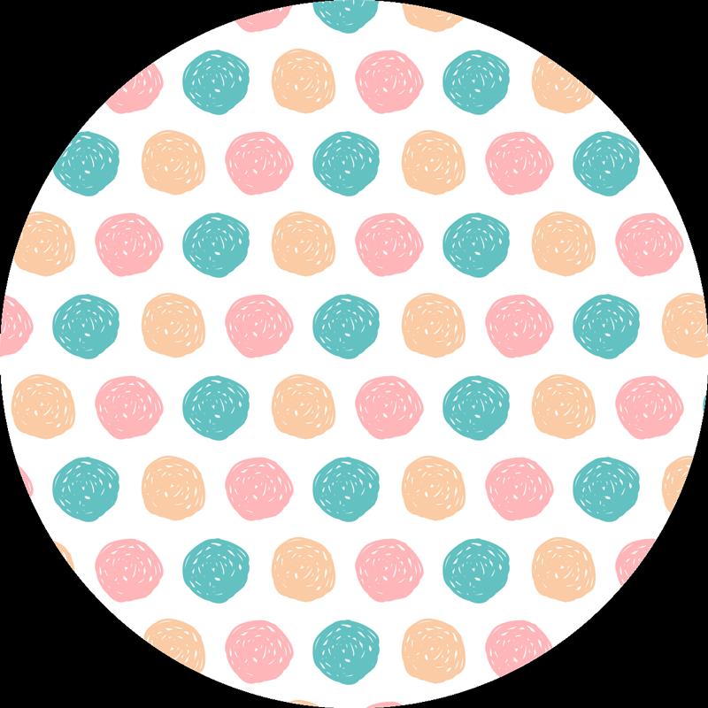 TenStickers. Minimalistische vinyl tapijt met stippen. Zie wat een ongelooflijk ontwerp we u hier voorstellen om uw vloer te decoreren met een unieke stijl die niemand onverschillig laat!