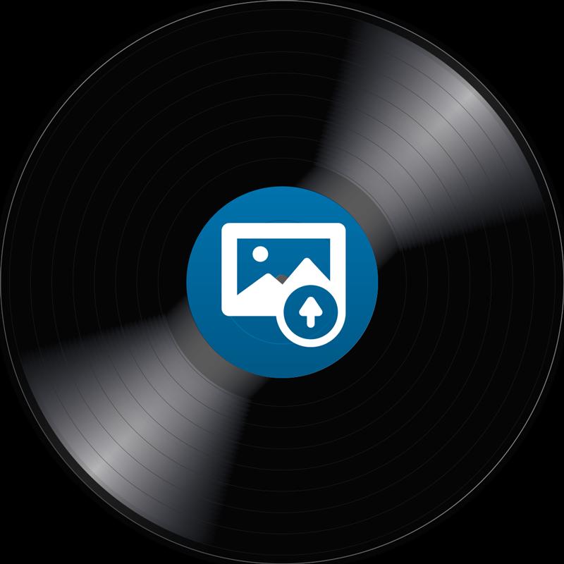 TenVinilo. Alfombra vinilo personalizable disco vinilo. Alfombra vinílica miscelánea personalizable con disco en el cual podrás poner tu foto en el centro y conseguir una decoración totalmente exclusiva