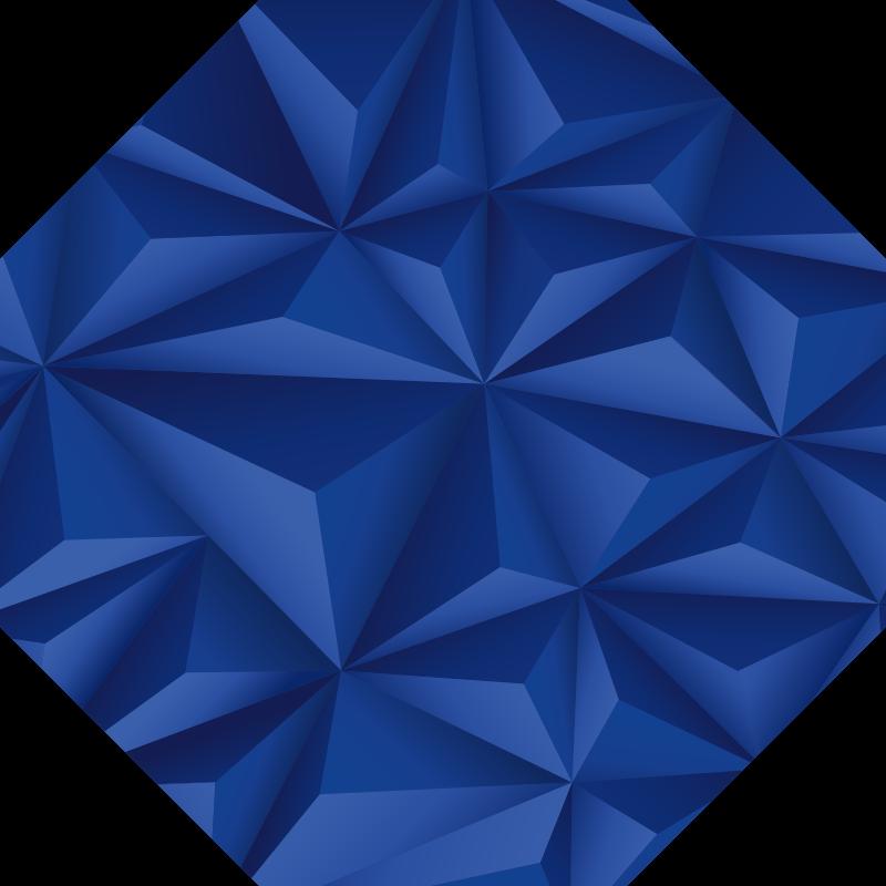 TenStickers. Tappeto moderno in vinile blu ottagonale. Prova questo fantastico tappeto in vinile blu ottagonale moderno con triangoli e ti renderai presto conto di quanto può essere migliorato l'aspetto della tua casa!