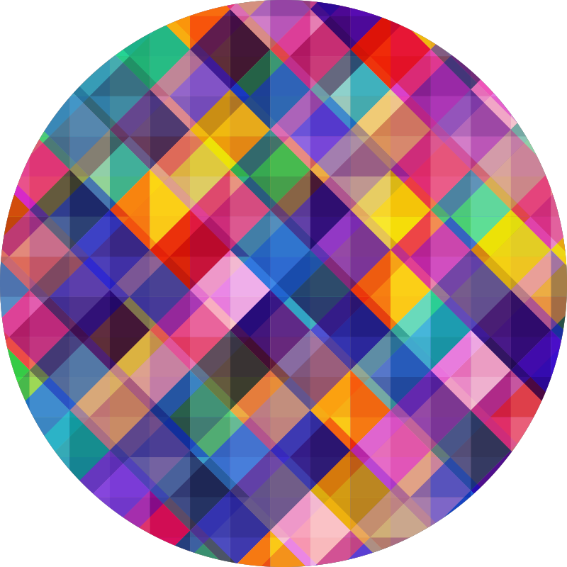 TenVinilo. Alfombra vinilo mosaico moderno colorido. Increíble alfombra vinílica de mosaico redonda que podrás comprar para decorar tu casa de forma original y diferente. Producto de calidad
