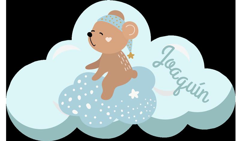 TenStickers. 个性化蓝色斯堪的纳维亚乙烯基地毯. 这款带有熊的个性化蓝色儿童乙烯基地毯,是您儿子卧室装修的完美解决方案!去除后残留物为零。