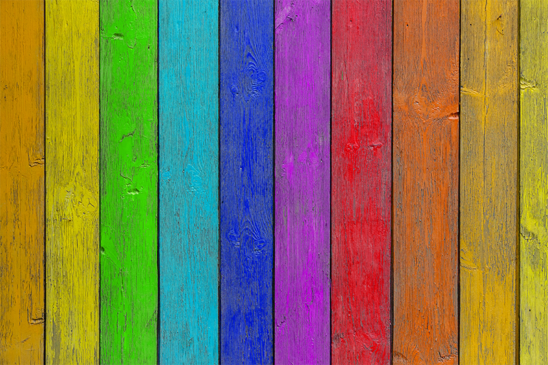 TenStickers. Rainbow vinyl carpet - wood stripes. Would you like to have a rainbow in your house? Then your wishes can come true with our rainbow striped vinyl carpet that imitates wood planks!