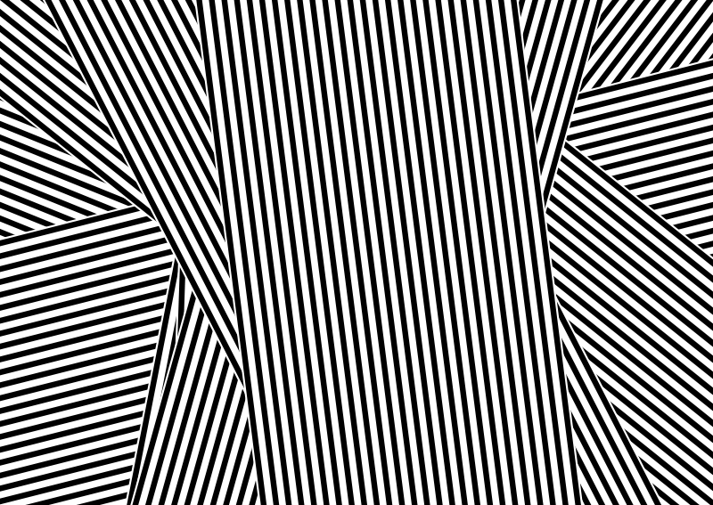 TENSTICKERS. 黒と白のストライプビニールの敷物. ストライプの付いた幻想的な黒と白のビニールラグは、あなたに別の装飾を与え、長い間楽しむことができます!