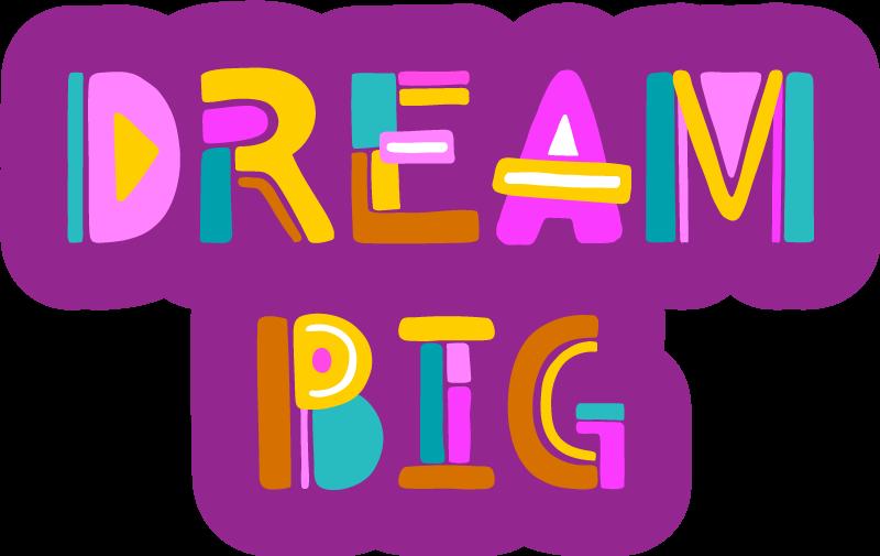 """TenVinilo. Alfombra pvc dream big. Estupenda alfombra vinílica con frase """"DREAM BIG"""" que te motivará en tu día a día. Diseño exclusivo, de primera calidad y lavable"""