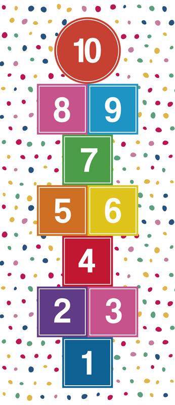 TenStickers. Pastelltöne hopse spiel vinyl teppich. Verwenden sie diesen wunderbaren hopscotch-spiel-vinylteppich in pastelltönen und machen sie ihre kinder dank dieses fantastischen und einzigartigen objekts superglücklich!