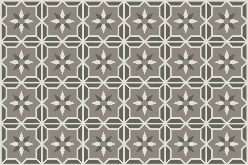 TenStickers. Geometric vinyl kitchen rug. This geometric vinyl mat with soft grey background is exactly what you were looking for ! Trust our high quality material!