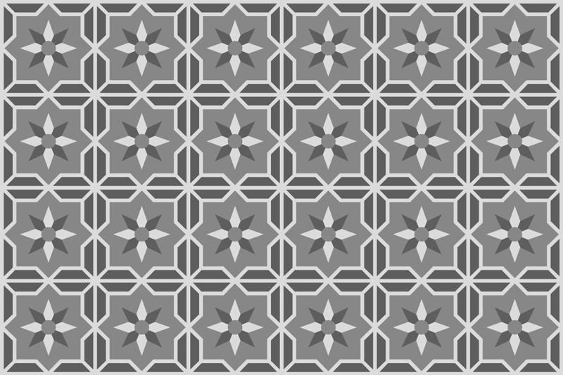 TenVinilo. Alfombra de vinilo azulejos gris claro. ¡Esta alfombra vinilo cocina de azulejos geométricos con fondo gris suave es exactamente lo que estabas buscando! ¡Envío gratuito!