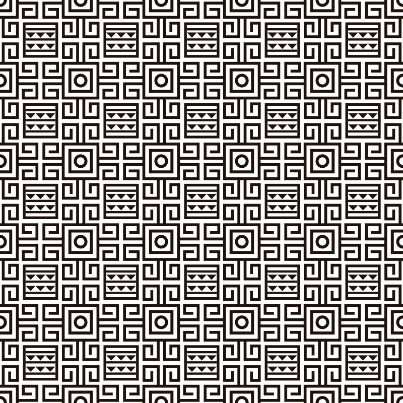 TenStickers. Schwarz und weißer ethnischer Vinylteppich. Dieser wunderschöne geometrische schwarz-weiß-vinylteppich ist etwas ganz besonderes, das man nicht so leicht finden kann! Bestellen sie es jetzt!