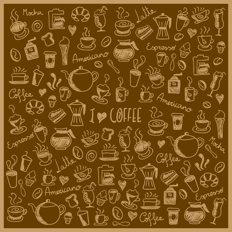 TenStickers. coffee vinyl kitchen rug. With this wonderful coffee vinyl kitchen mat you will be able to renew drastically the visual impact of every room of your house!