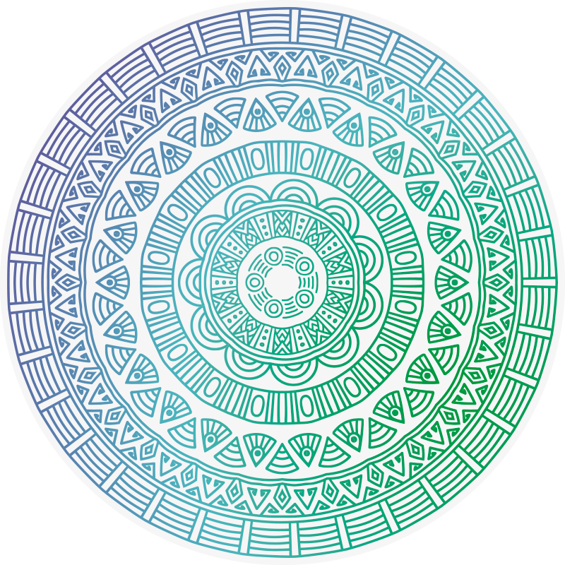 TenStickers. Decorative round mandala vinyl carpet. This gorgeous decorative round mandala vinyl rug is the perfect solution for improving all your house decor in a fantastic way!