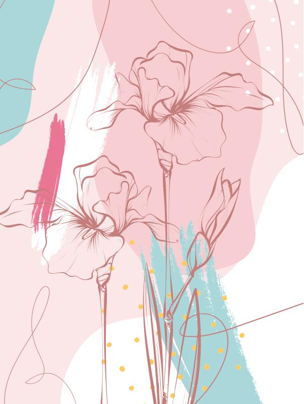 TenVinilo. Alfombra de vinilo moderna de flores. ¡Admire esta maravillosa alfombr de vinilo infantil con flores y da a sus hijos algo realmente encantador, capaz de transformar su habitación!