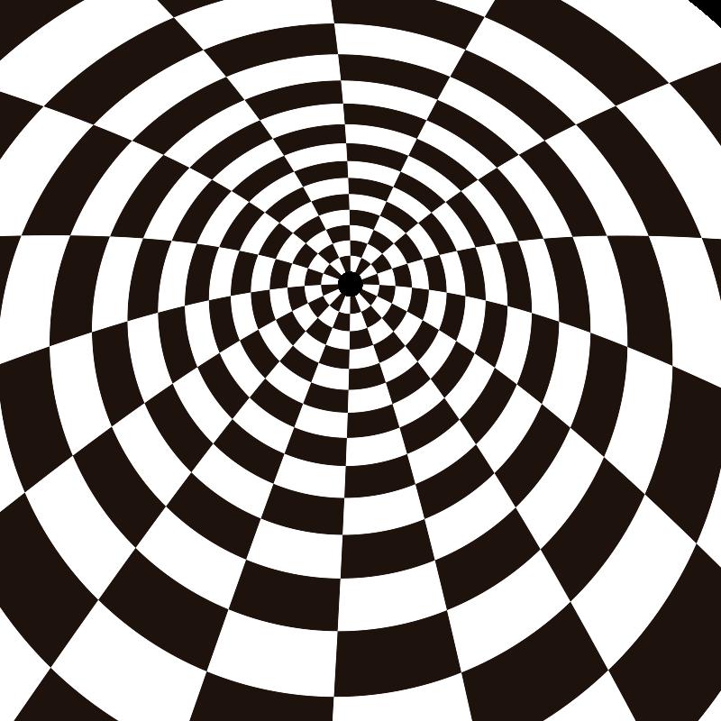 TenStickers. Tappeto in vinile geometrico rettangolare bianco e nero. Fantastico tappeto rettangolare in vinile bianco e nero che ti darà una decorazione diversa e che potrai goderti a lungo!