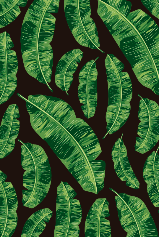 TenStickers. Tropical leafs vinyl carpet. This elegant tropical leafs vinyl rug is the best solution if you want to improve greatly the impact of every room of your house!