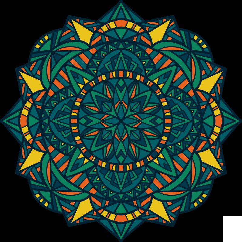 TenStickers. Zen mandala vinyl tapijt. Dankzij dit prachtige vinylmand in zen mandala-stijl kun je nu ongelooflijk elke kamer van je huis verbeteren met heel weinig kosten!