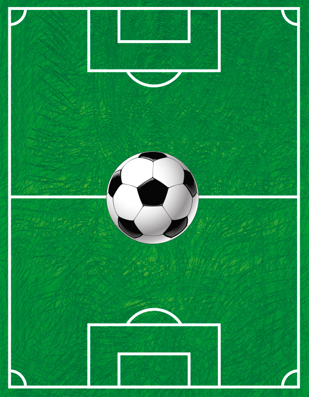 TenStickers. Football pitch teen vinyl carpet. Decorate your kid's bedroom floor with this magnificent football vinyl rug with a football pitch! Choose the perfect size.