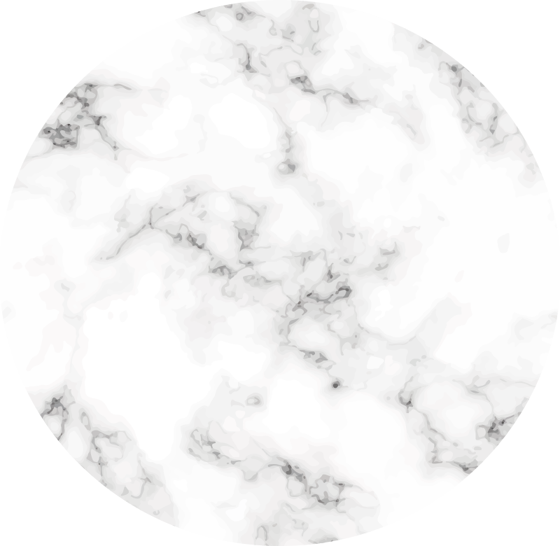 TenStickers. Marble Circle minimal vinyl carpet. Decorate your home with a minimalist trend and get this beautiful entrance hall vinyl rug with gray marble texture. Easy to mantain.