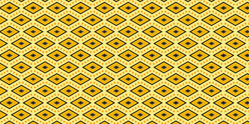 TenStickers. Yellow eyes ethnic vinyl carpets. This ethnic vinyl rug with a yellow geometric eye pattern will look beautiful in your living room. Many sizes available.