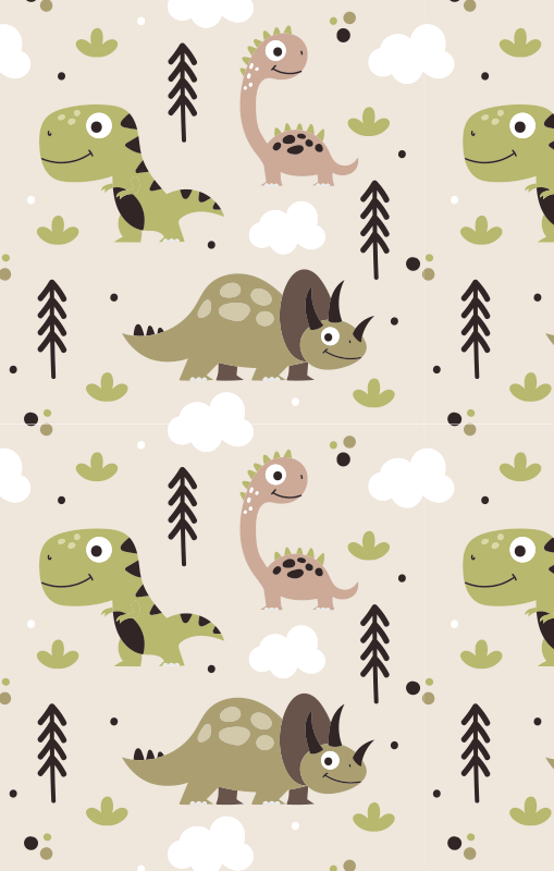 TenStickers. dinosaur kids vinyl carpet. Order the fantastic rectangle vinyl rugs dinosaur and make your kids happy and is available in the size you prefer. Return to a world of dinosaurs!