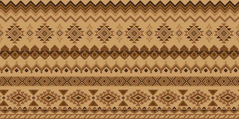 TenStickers. Kilim民族设计的乙烯基地毯. 乙烯基地毯民族kilim设计将在您的家中或办公室中营造东方氛围。选择尺寸,然后到达您的家。
