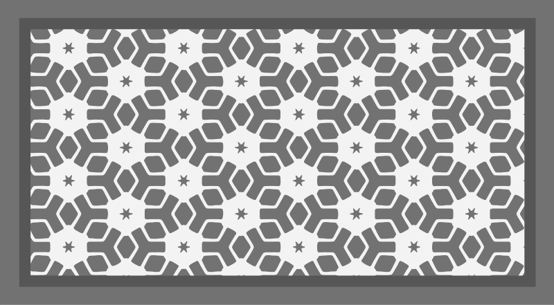 TenStickers. Gray star mosaic vinyl carpet. Your bathroom also deserves a unique and exclusive decoration, and this mosaic vinyl rug is perfect for decorating it. High quality!